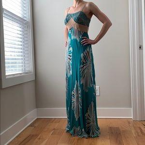 Catherine Malandrino Silk Floral Maxi Dress